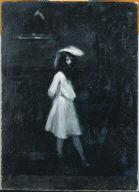 (Standing Girl in White Dress)