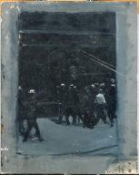 (Street Scene with Pedestrians)