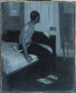 (Man Seated on Bed)