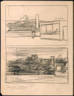 [Study for Corn Belt City, Drawing for painting Corn Belt City]