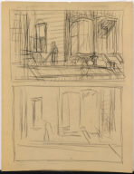 [Study for Pennsylvania Coal Town, Drawing for painting Pennsylvania Coal Town]