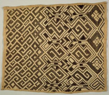 Embroidered Raffia Pile Cloth