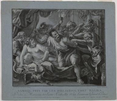 [Samson Taken by the Philistines in Delilah's House, Samson pris par Philistins chez Dalila]