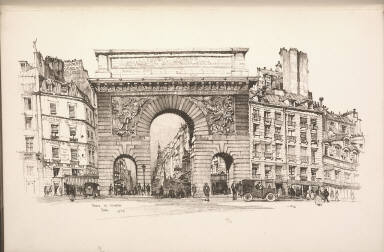 Twenty Lithographs of Old Paris: Porte Saint Martin, Paris