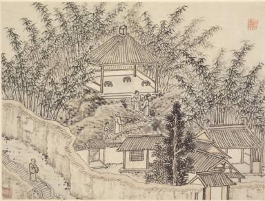 Twelve Views of Tiger Hill, Suchou: Bamboo Pavilion, Tiger Hill