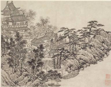 Twelve Views of Tiger Hill, Suchou: Cloud-Climbing Pavilion