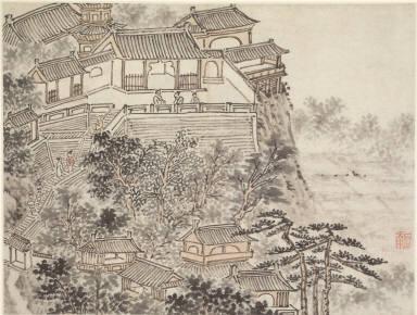 Twelve Views of Tiger Hill, Suchou: The Five Sages Terrace