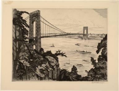 South View of George Washington Bridge
