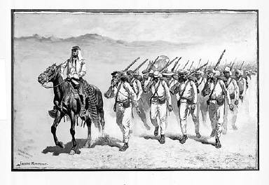 """Mexican Infantry """"On the March"""""""