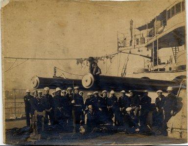 Battleship Mississippi at New Orleans, Taft visit
