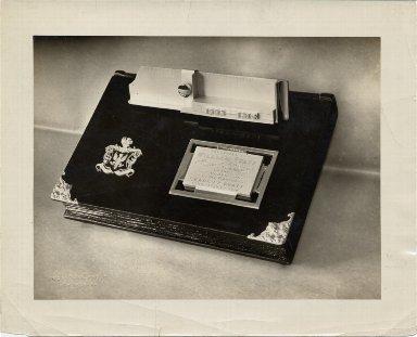 Plaque presented to William Pfaff