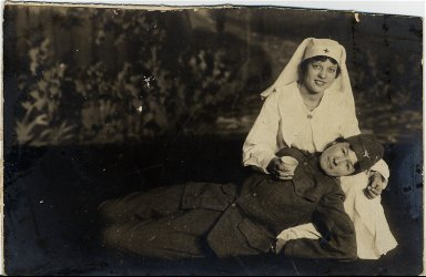 Red Cross nurse and soldier