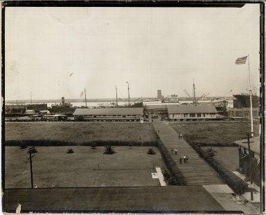 Steamship at wharf
