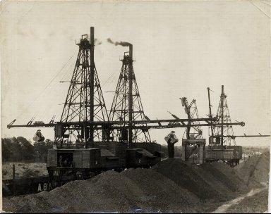 Coal derricks