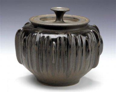 Lidded Jar with Pronounced Rib Design