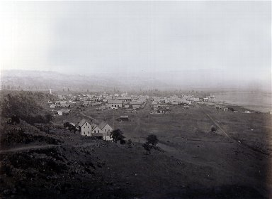 Dalles City from the East, Columbia River