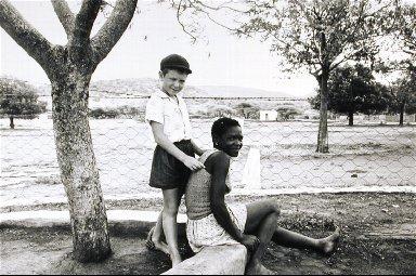 Farmer's Son with his Nursemaid. Marico Bushveld, December 1964