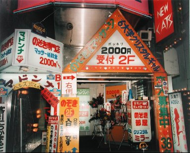 Peep Show Advertisements, Kabukicho, Shinjuku, Tokyo, from the portfolio Map of the East