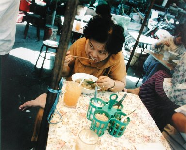 At a Noodle Stand, Sampaeng Alley, Bangkok, from the portfolio Map of the East
