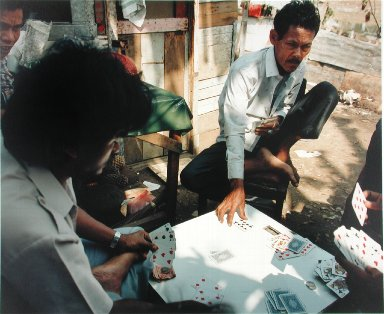 Card Players, Kampung Bali, Jakarta, from the portfolio Map of the East
