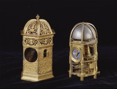Gilt Brass Hexagonal Table Clock
