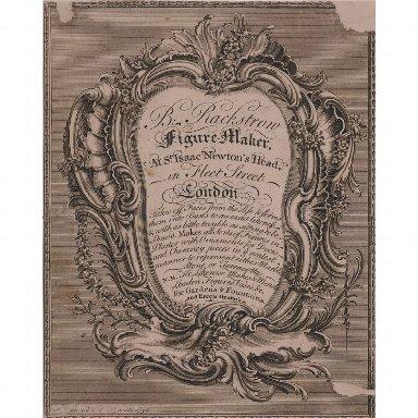 TRADE CARD of Benjamin Rackstrow, figure-maker