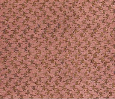 Screen Printed Rayon Textile: 'Golden Bird'
