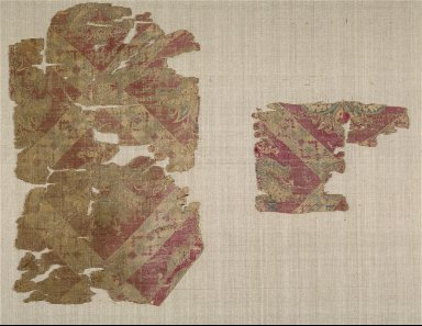 Silk Fragments with Palmette Blossoms