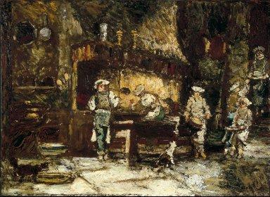 The Kitchen of the Rôtisserie des Deux Paons