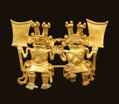 Pendant with two figures