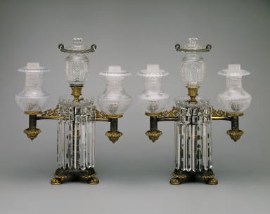 Argand Lamp (one of a pair)