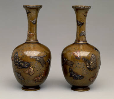 Bottle vase (one of a pair)