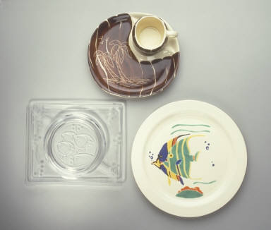 'New Era' plate with 'Fish' pattern decoration