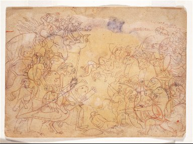 Durga and Gods Against the Demon Army, Folio from a Durga Sapta Sati
