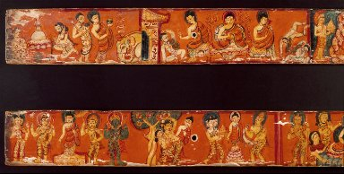 Scenes from the Life of Buddha Sakyamuni, Covers of an Ashtasahasrika Prajnaparamita (The Perfection of Wisdom in 8,000 Verses)