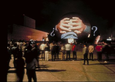 Projection On The Tijuana Cultural Center, Tijuana, Mexico