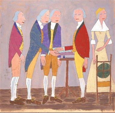 George Washington Signing the Declaration of Independence