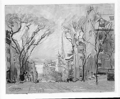 Down Mt. Vernon Street, Boston