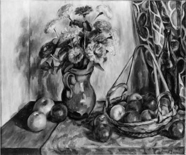 Zinnias and Apples
