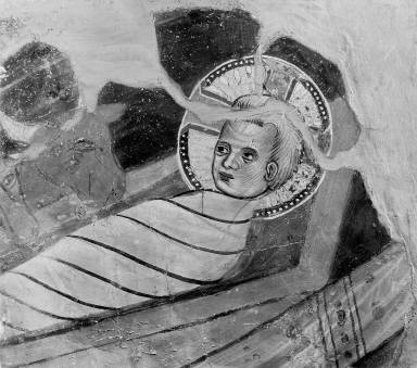 The Swaddled Christ Child (fragment of a Nativity)