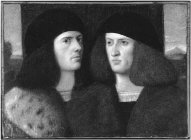 Two Young Men in Furred Coats