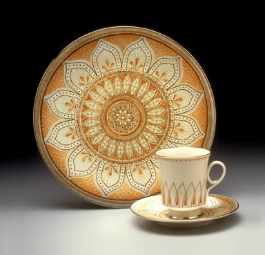 Plate with 'Shalimar' pattern decoration