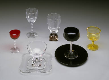 'Biscayne' shape sherbet glass in 'Gold' colored glass