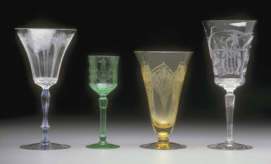 Goblet with 'Legacy' shape stem and 'Supurba' pattern etching