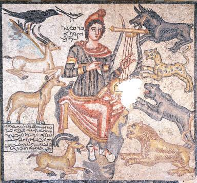 Orpheus Taming Wild Animals