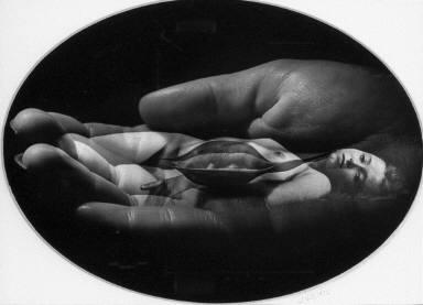 Hand Holding Lips & Nude