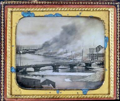 Burning Mills at Oswego, New York