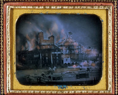 Fire in the Ames Mills, Oswego, New York