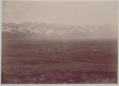 Salt Lake City and Wahsatch Mountains, Southern Half