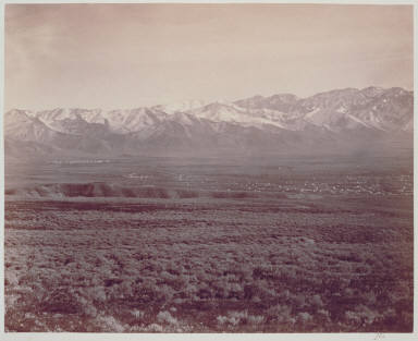 Camp Douglas, Salt Lake City and Wahsatch Mountains